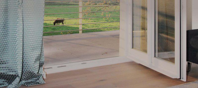 Boarding House Blick ins Grüne - vom Balkon der Wohnung im ersten Obergeschoss am Kattenstrother Weg