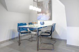 Speisen im stilvollen Ambiente – Essbereich der Dachgeschosswohnung