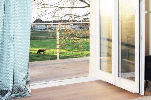 Boarding House Blick ins Grüne vom Balkone der Wohnung im ersten Obergeschoss am Kattenstrother Weg