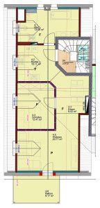 Grundriss der Galerie-Wohnung